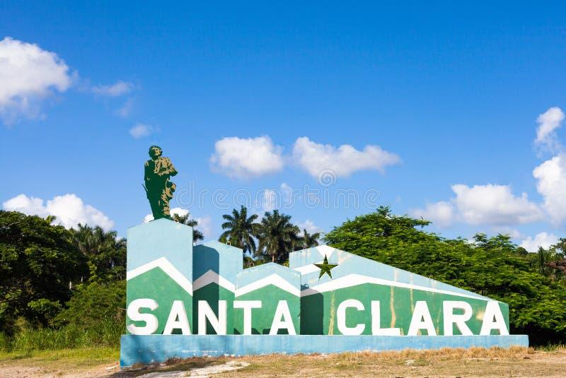 Entrée du Cuba dans la ville historique de Santa Clara image libre de droits