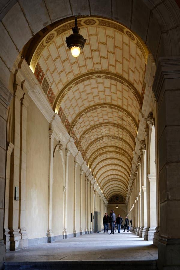 Entrée du musée des beaux-arts de Lyon photo stock