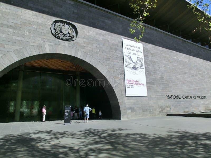 Entrée du National Gallery de Victoria photo libre de droits