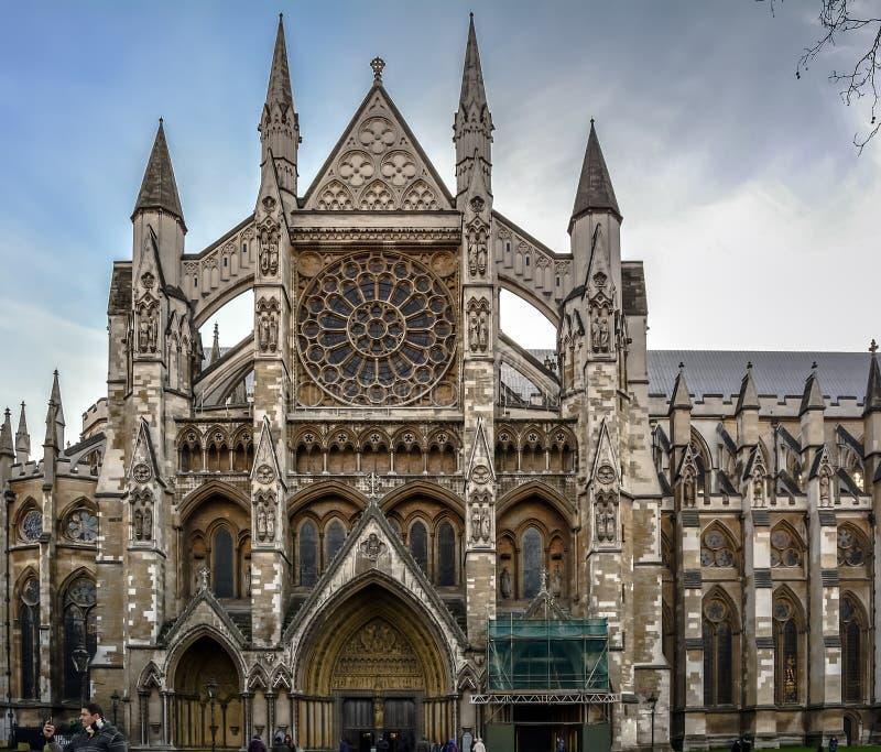 Entrée du nord d'Abbaye de Westminster photographie stock libre de droits