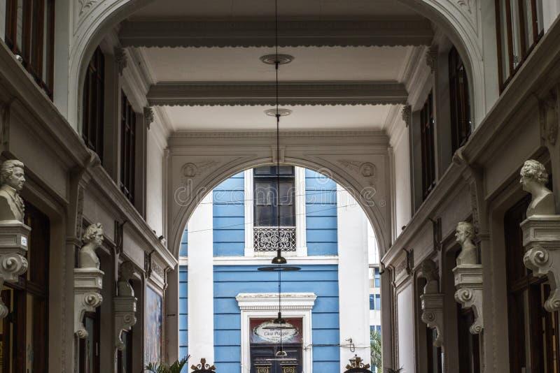 Entrée du passage Ronald de galerie de FUGAZ photo libre de droits