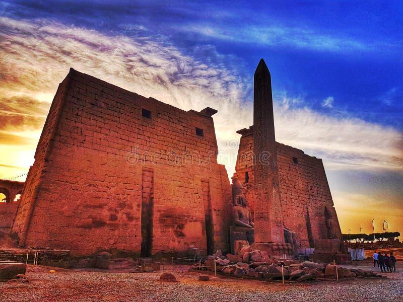 Entrée du temple de Louxor image stock