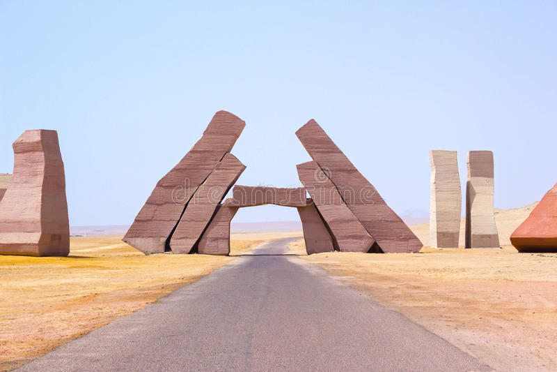 Entrée en parc national Ras Mohammed, Egypte images stock