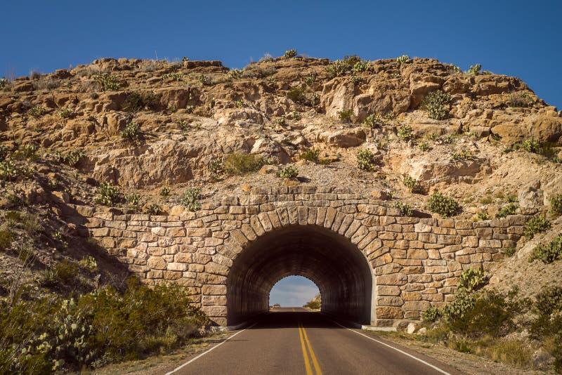 Entrée en pierre de voûte au parc national de grande courbure dans le Texas occidental image stock