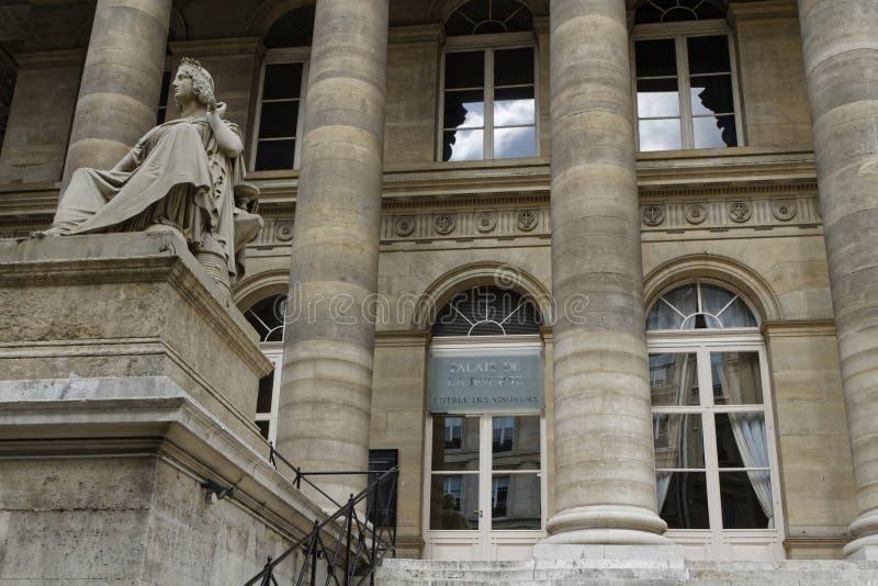 Entrée est de Palais Brongniart photographie stock