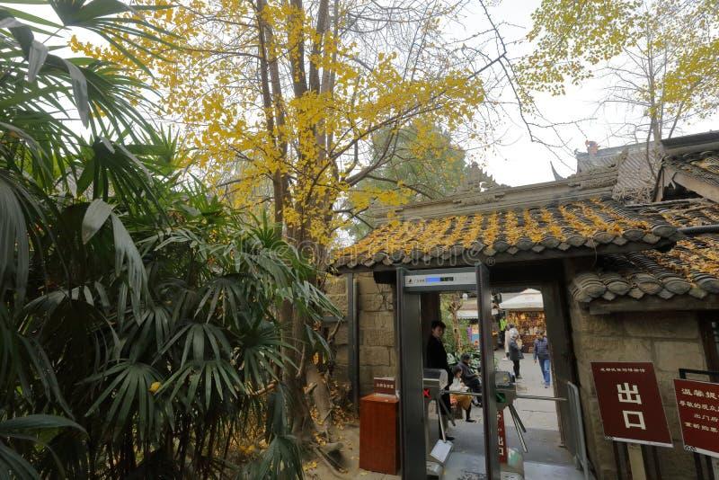 Entrée et sortie de temple de wuhouci, adobe RVB image stock