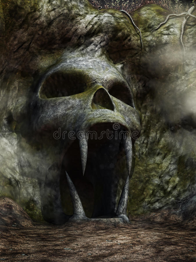 Entrée fantasmagorique de caverne