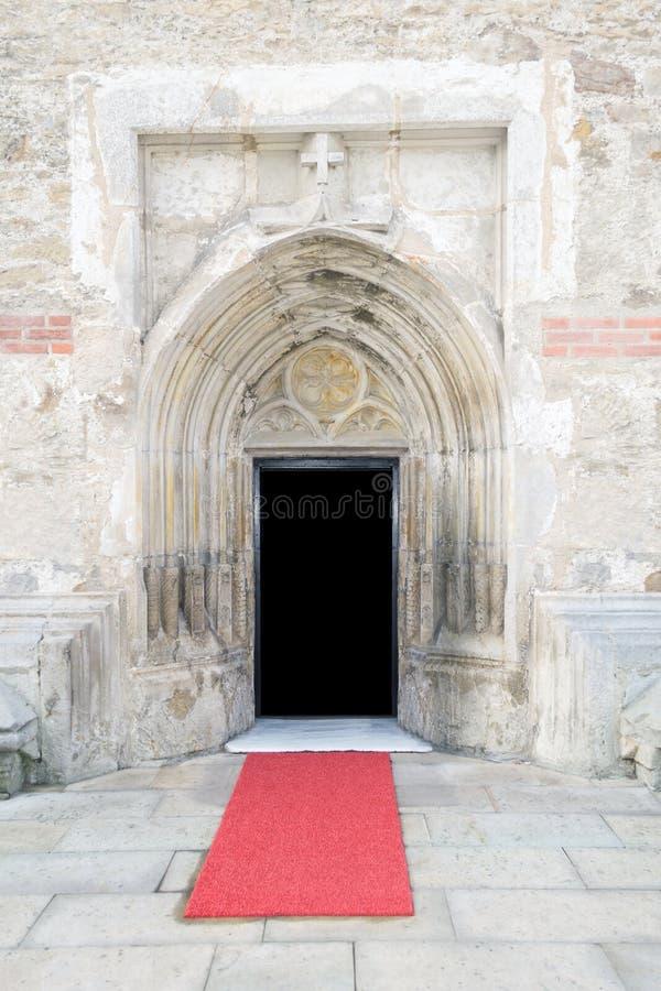 Entrée gothique de cathédrale de style photos libres de droits