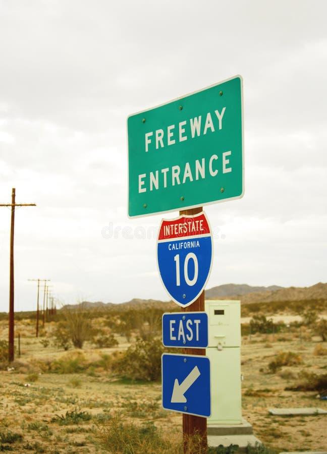 Entrée I 10 d'autoroute images stock