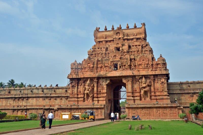 Entrée II, Thanjavur de temple de Brihadeeswara photos stock