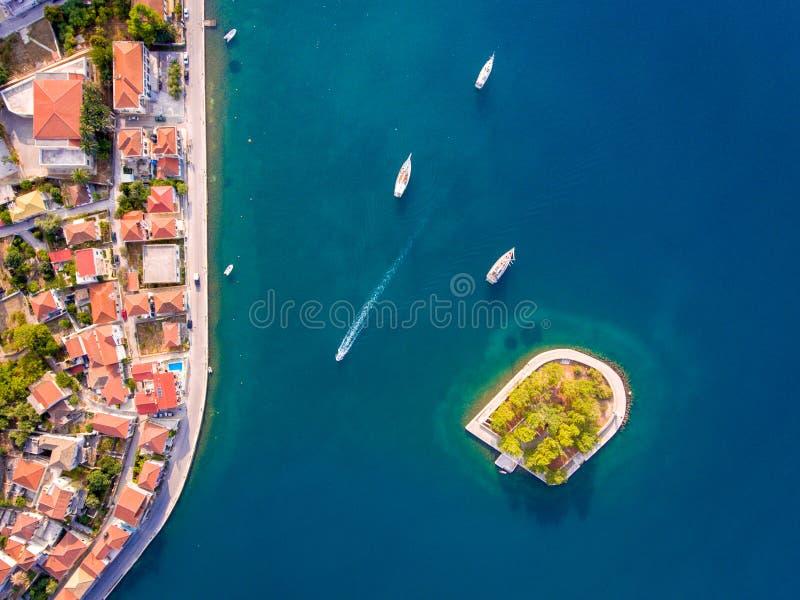Entrée Ithaka ou Ithaki de port de Vathy Ithaca Grèce images libres de droits