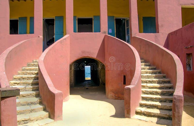 Entrée-maison des esclaves-Goree image stock
