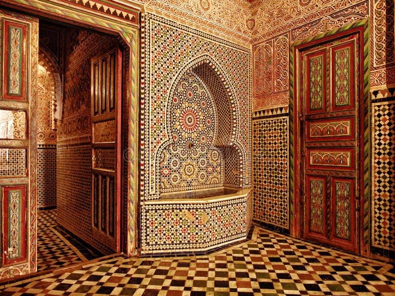 Entrée marocaine de porte images libres de droits