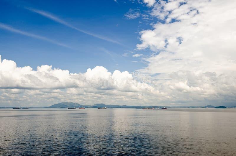 entrée Panama de canal scénique photographie stock