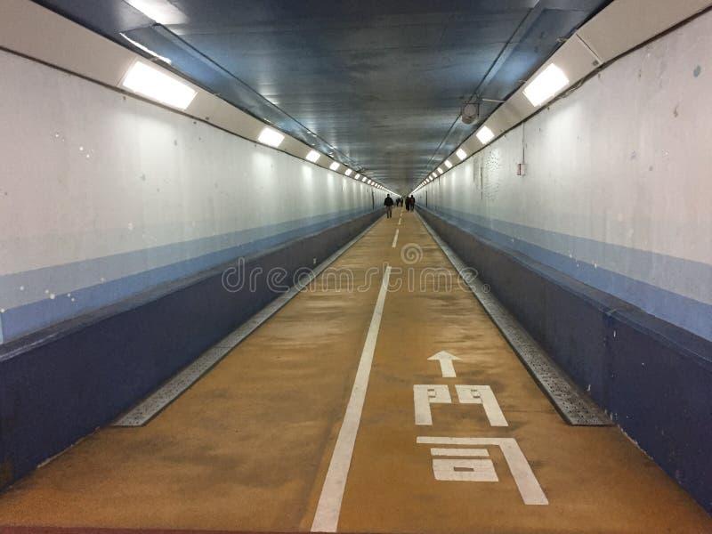 Entrée piétonnière de Kanmon de tunnel de Kanmon, entre Shimonoseki de Honshu et Moji de Fukuoka, Kyushu, Japon photographie stock libre de droits