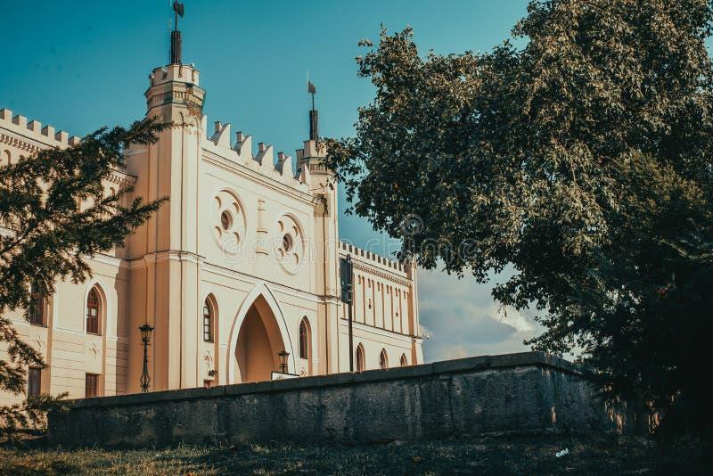 Entrée principale au château néogothique royal de Lublin Voyage vers la Pologne Fond d'architecture Concept de tourisme Attractio image libre de droits