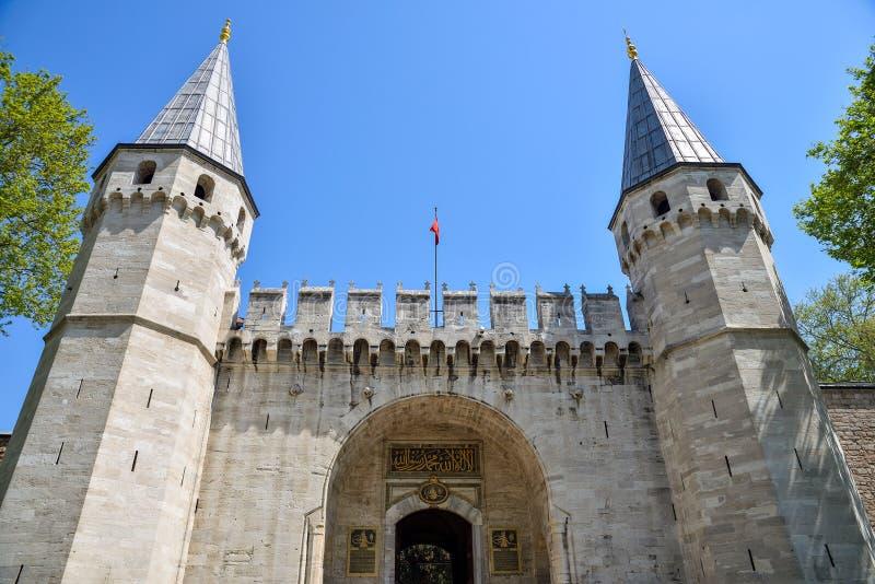 Entrée principale au palais de Topkapi photos libres de droits