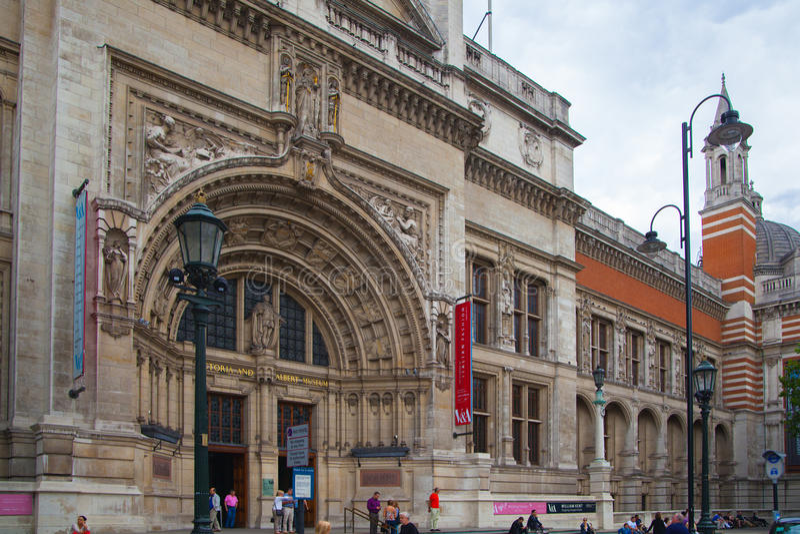 Entrée principale de Londres, de Victoria et d'Albert Museum images libres de droits