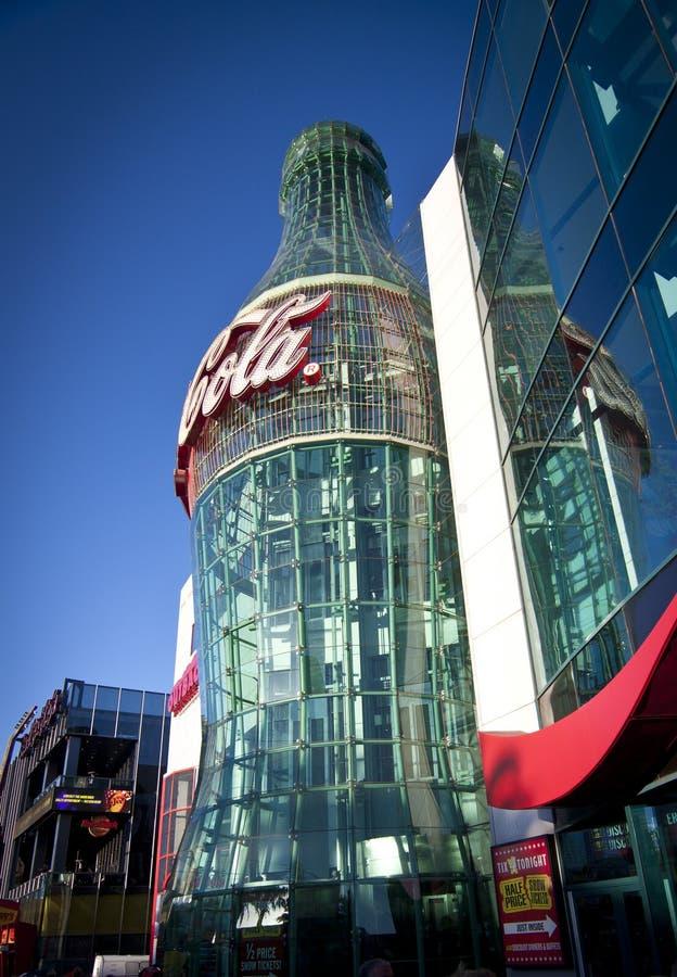 Entrée Vegas de bouteille de coke photo stock