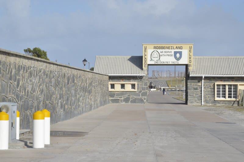 Entrée vers l'île de Robben images libres de droits