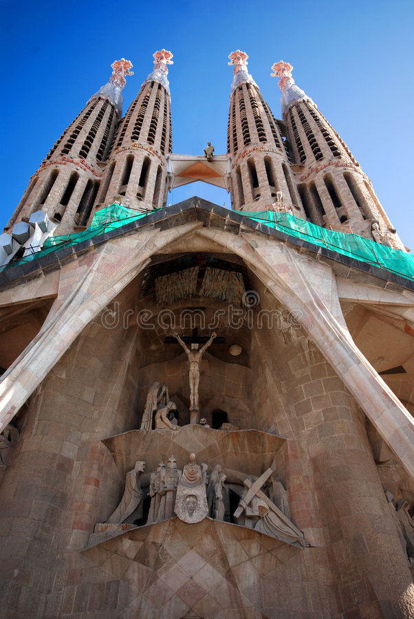 Entrée vers Sagrada Familia photos libres de droits