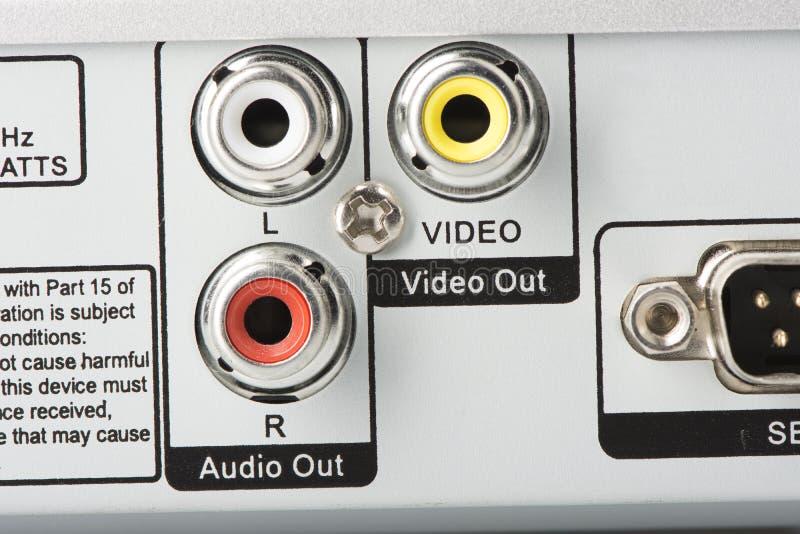 Entrées visuelles audio photographie stock