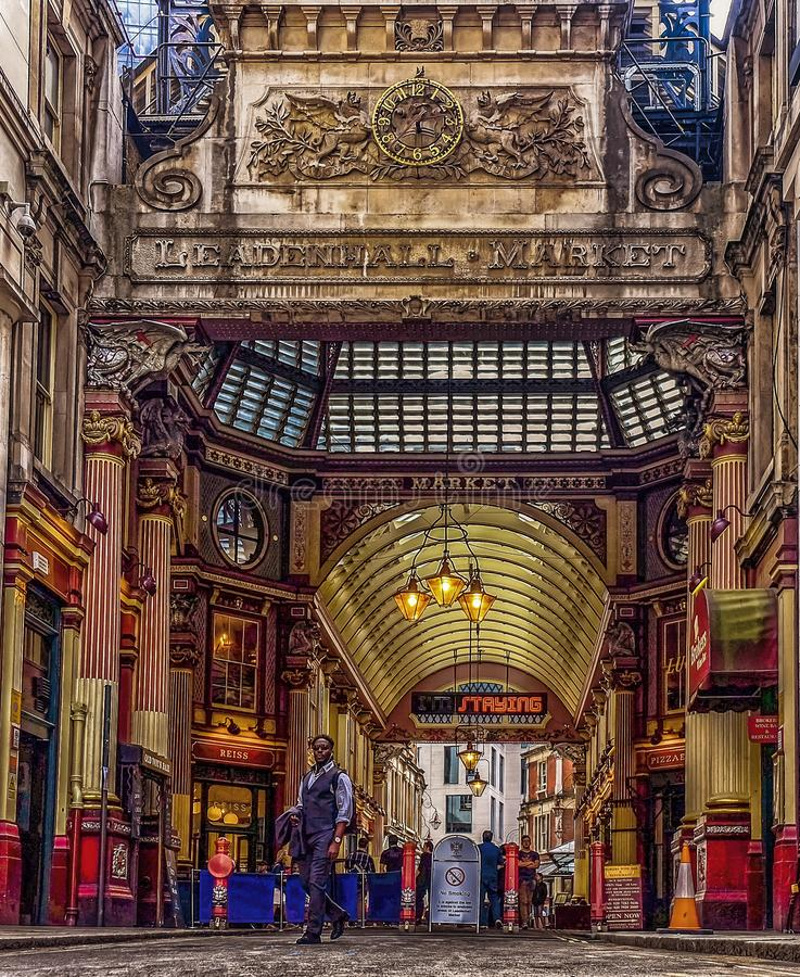 Entr?e du march? de Leadenhall image stock