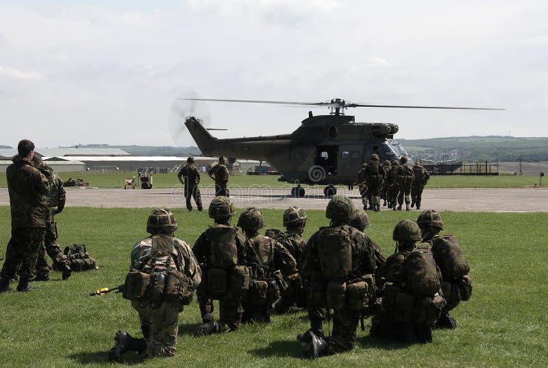 Entraînement d'armée de terre britannique photos libres de droits
