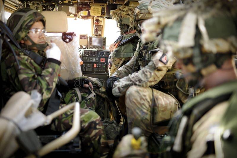 Entraînement de l'armée de terre britannique facilty sur la plaine de Salisbury, Angleterre, R-U photo libre de droits