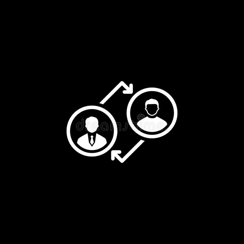 Entraînement de l'icône Concept d'affaires Conception plate illustration de vecteur