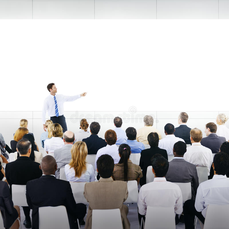 Entraînement du concept d'affaires de conférence de réunion de séminaire de tutelle image stock
