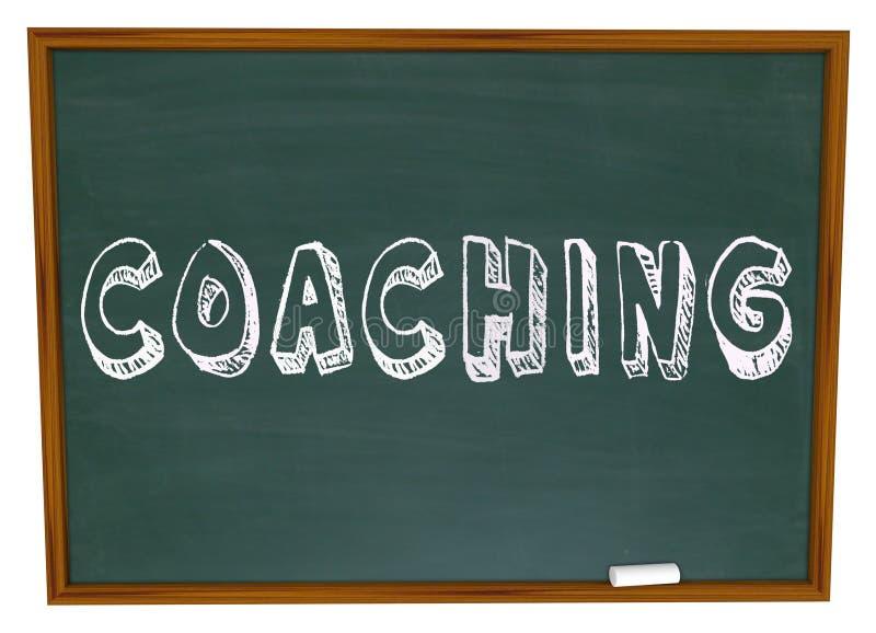Entraînement du tableau de Word enseignant apprenant l'éducation de sports illustration libre de droits