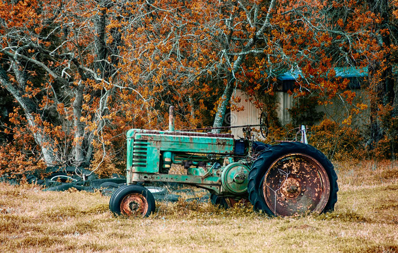 Entraîneur antique de John Deere photos stock