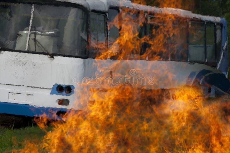 Entraîneur brûlant d'accidents photo libre de droits