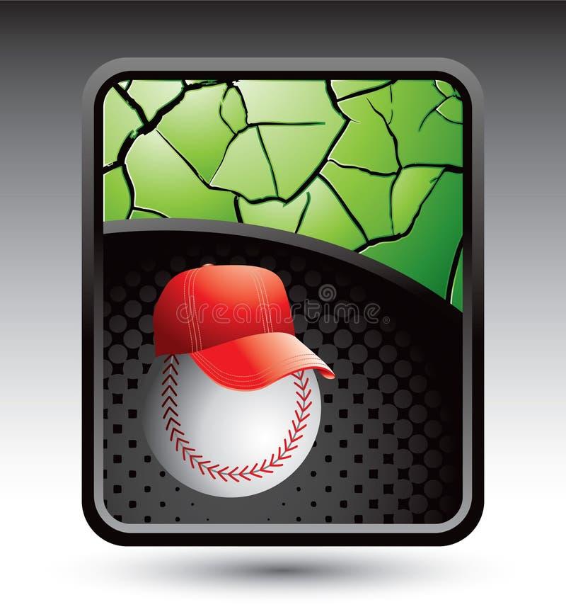 Entraîneur de base-ball sur le contexte criqué vert illustration de vecteur