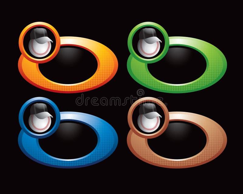 Entraîneur de base-ball sur les boucles colorées illustration stock