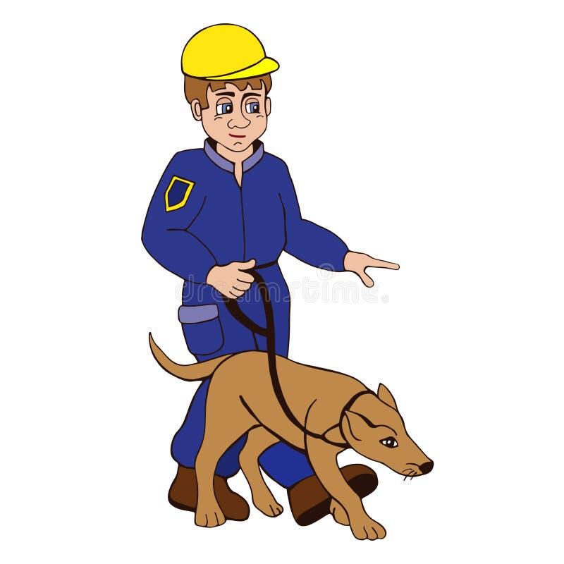 Entraîneur de chien illustration de vecteur