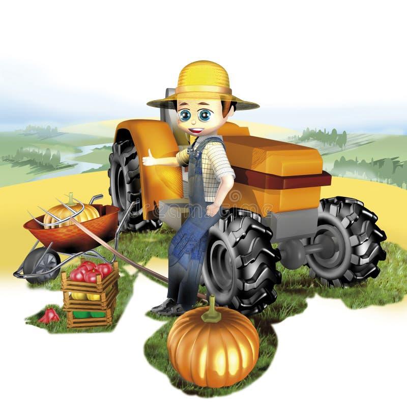 Entraîneur de fermier illustration de vecteur