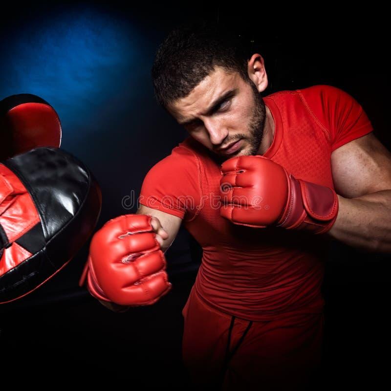 Download Entraîneur Personnel D'homme D'entraîneur Et Homme Exerçant La Boxe Image stock - Image du actif, exercer: 56483411