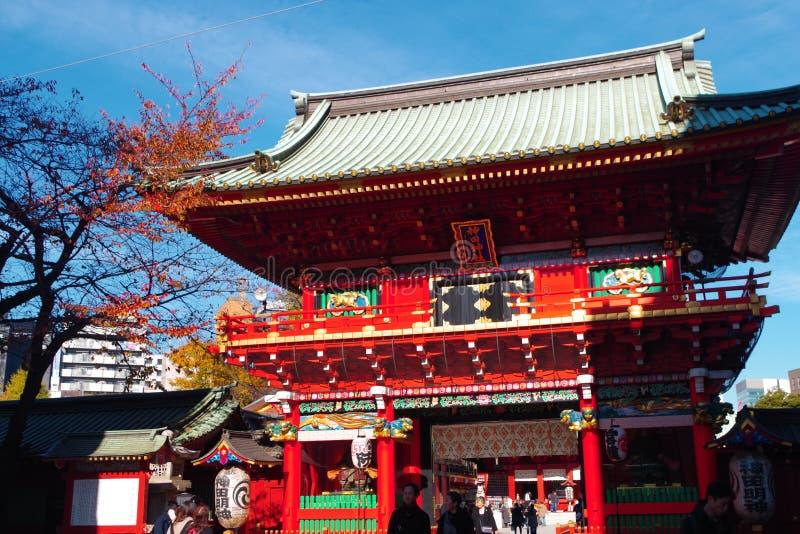 Entrace of Kanda Shrine in Tokyo Japan royalty free stock photos