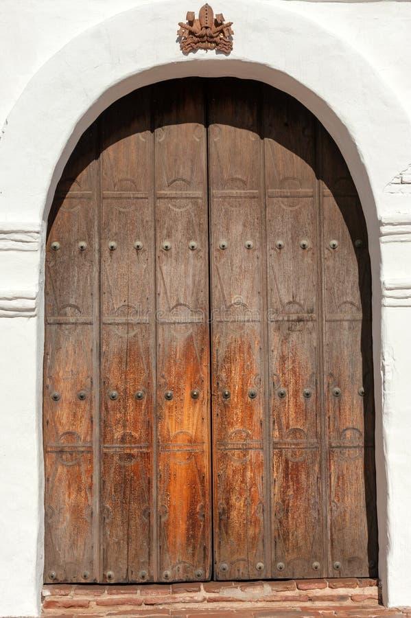 Entrada à basílica San Diego de Alcala fotografia de stock royalty free