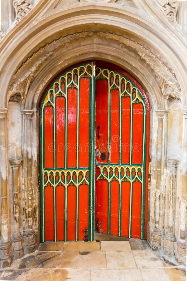 Entrada à catedral de Gloucester fotografia de stock