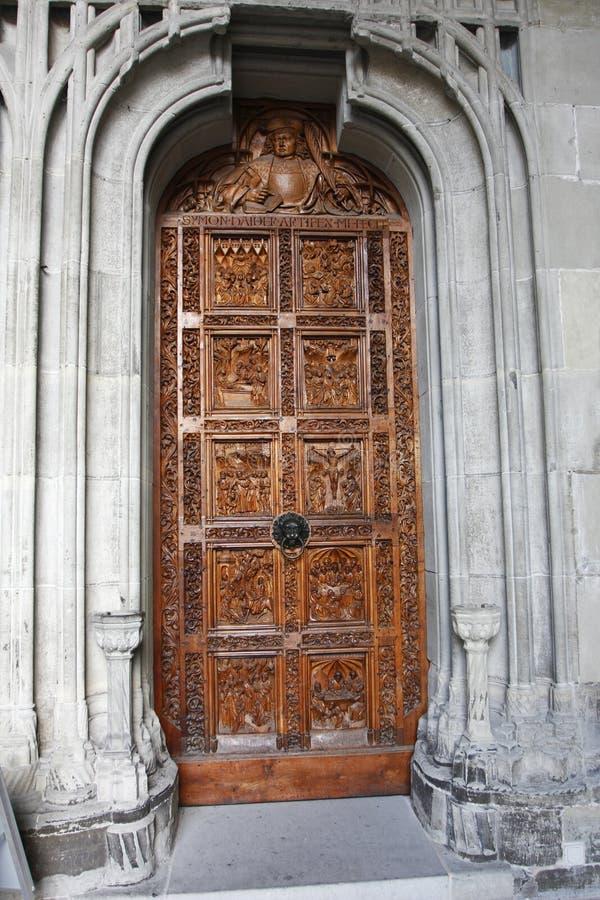 Entrada à catedral em Constance foto de stock royalty free