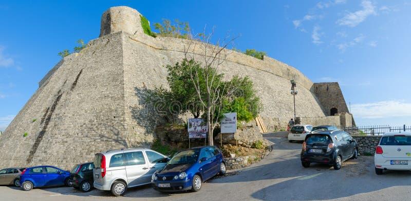Entrada à cidade velha, Ulcinj, Montenegro imagens de stock