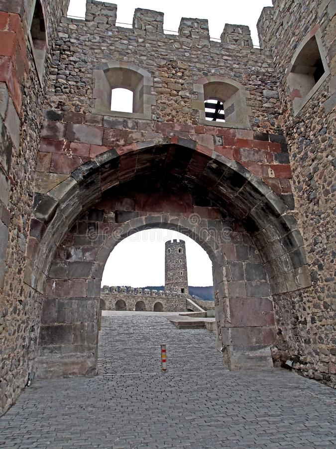 Entrada à fortaleza Rabat fotos de stock