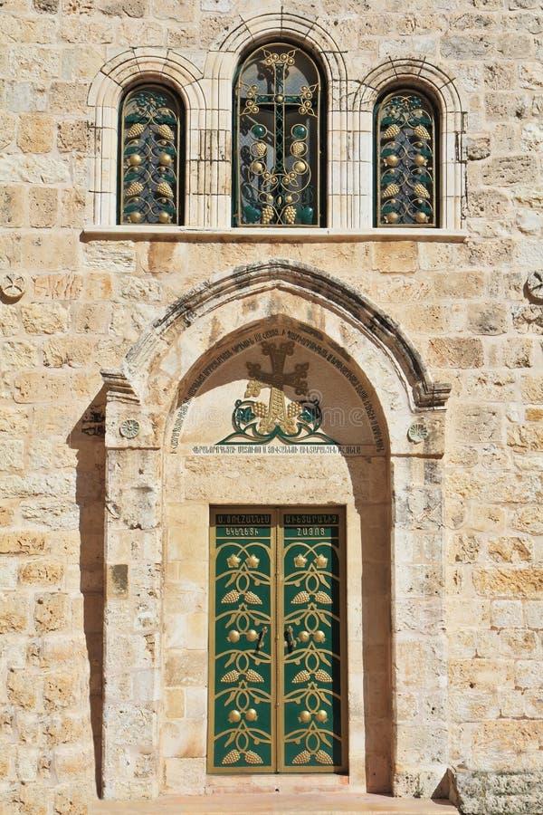 Entrada à igreja cóptico imagem de stock royalty free