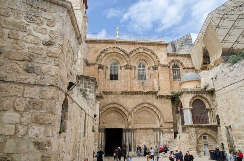 Entrada à igreja santamente do sepulcro no Jerusalém israel imagem de stock royalty free