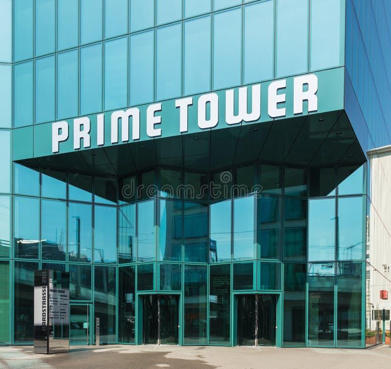 Entrada à torre principal em Zurique, Suíça fotos de stock royalty free