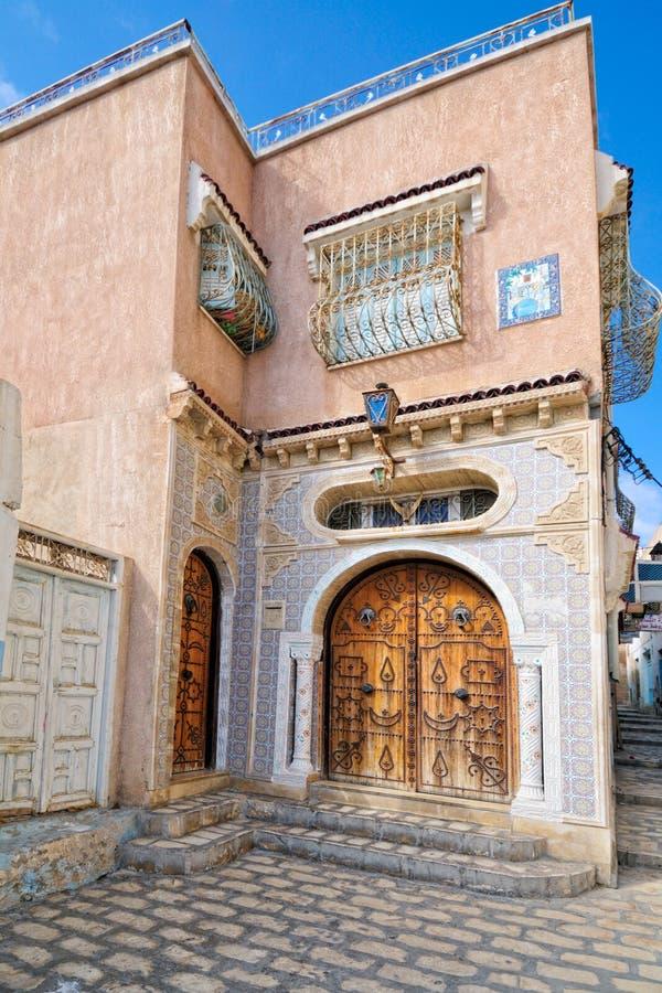 Entrada árabe da casa do estilo fotos de stock royalty free