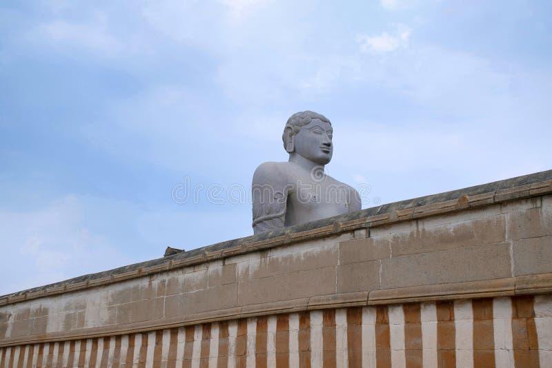 Entrada adornada al complejo Jain del templo, colina de Chandragiri, Shravanbelgola, Karnataka imágenes de archivo libres de regalías